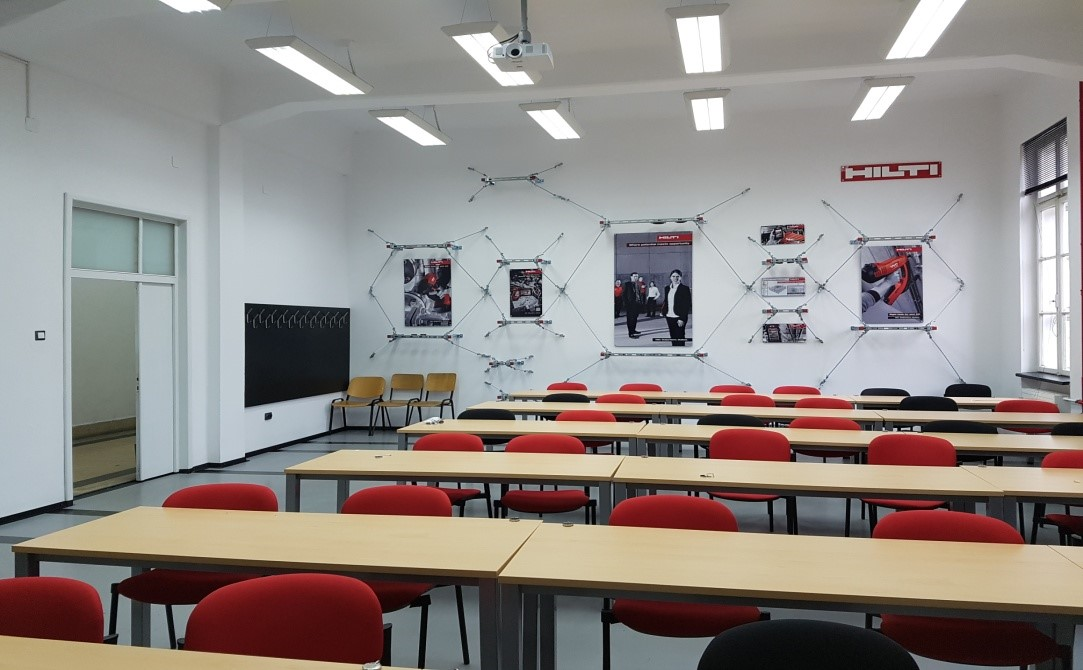 conference room and seminar upgraded by Hilti