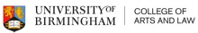 University of Birmingham - College of Arts and Law